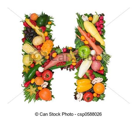 letter l made of fruit and vegetable stock photo alphabet of health letter h made of fresh fruits and 55981