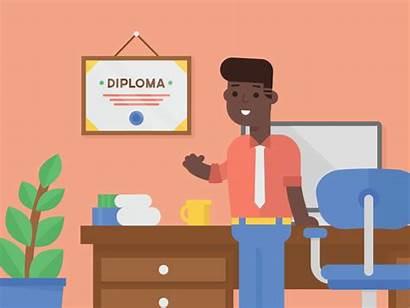 Diploma Animation Brent Clouse Animated Gifs Technology
