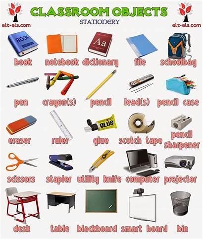 Objects Classroom Ingilizce Elt Els