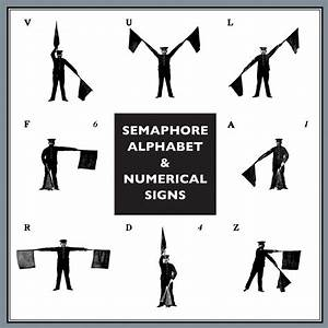 Semaphore Alphabet And Numerical Signs For The Army