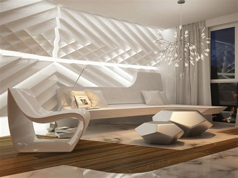 interior wall design futuristic interior design