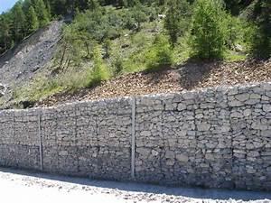 Mur De Soutenement En Gabion : gabions sout nement et renforcement de routes et talus ~ Melissatoandfro.com Idées de Décoration