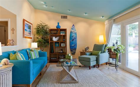 Beach Themed Home Decor In The Living Room