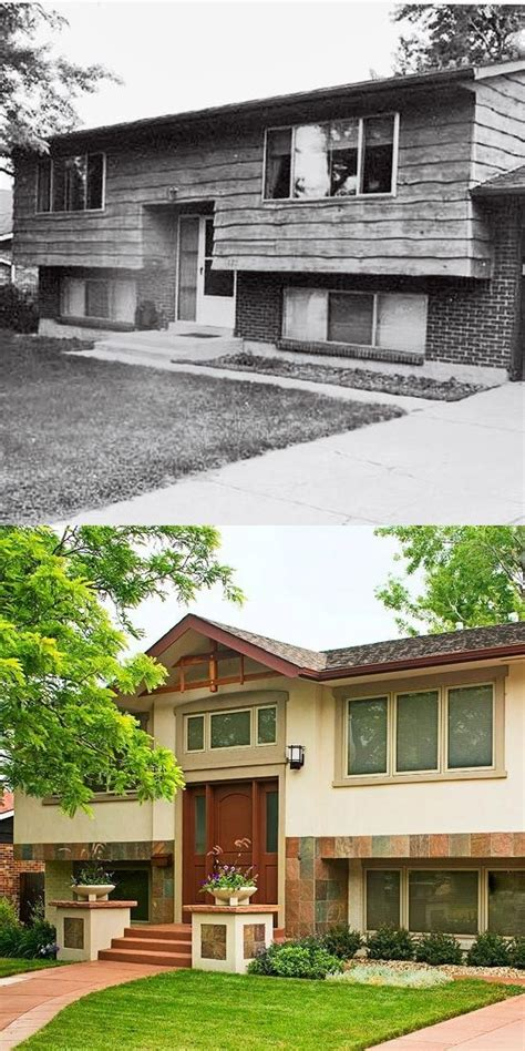 split level home split level homes before and after before after there is for the split level
