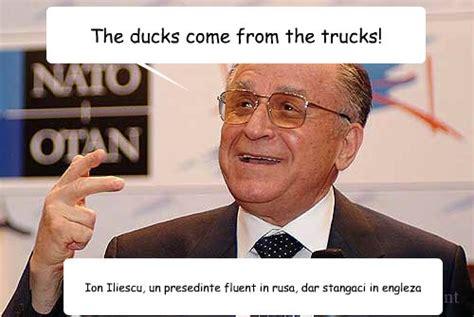 """De la """"ducks come from the trucks"""