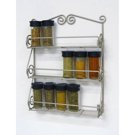 Scroll Spice Rack by Spectrum Scroll Wall Mount Spice Rack Satin Nickel
