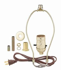 brass table lamp wiring kit with push thru socket 30552p10 With outdoor lamp wiring kit