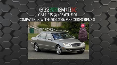 How To Replace Mercedes Benz S500 S600 S450 Class Key Fob