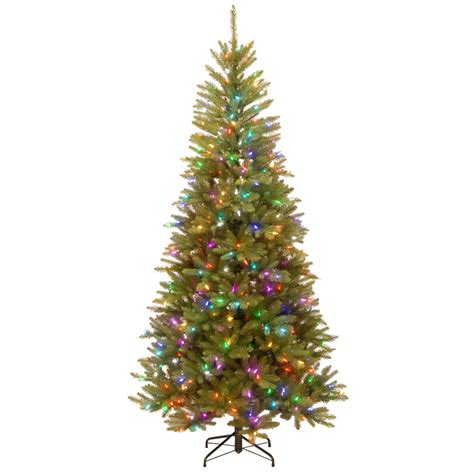 dunhill artificial tree corporation national tree company 7 5 ft powerconnect dunhill fir artificial slim tree with light