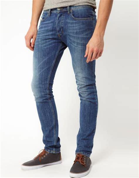 light wash skinny jeans mens diesel jeans tepphar skinny fit light wash in blue for men