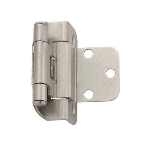amerock cabinet hinge parts amerock partial wrap 3 8 quot inset hinge satin nickel per