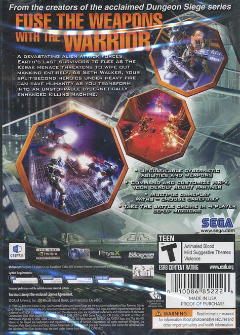 siege software space siege strategy rpg xp vista pc in box