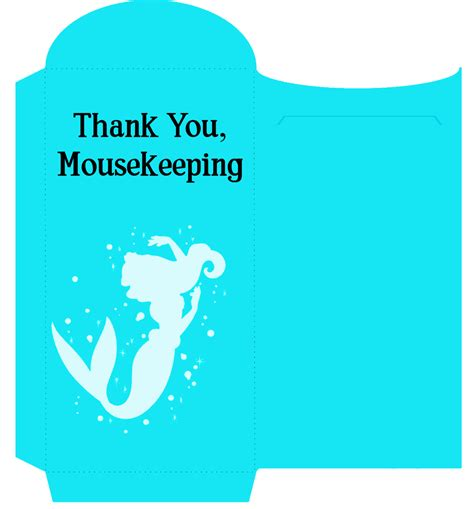 printable customizable cute mousekeeping tip envelopes