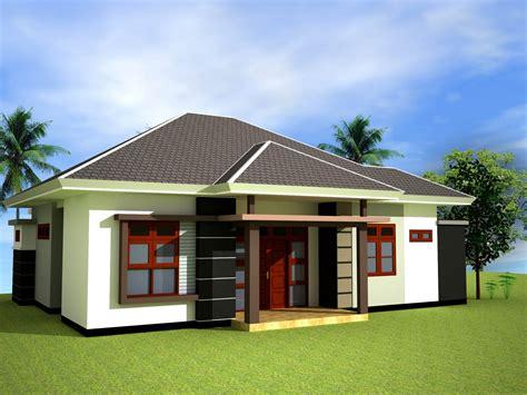Gambar Denah Model Rumah Sederhana Warna Cat Teras Taman