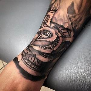 24 best Money Half Sleeve Tattoos For Men images on ...