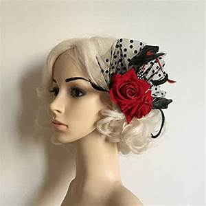 Red Rose Velvet Hair Flower Clip Beauty