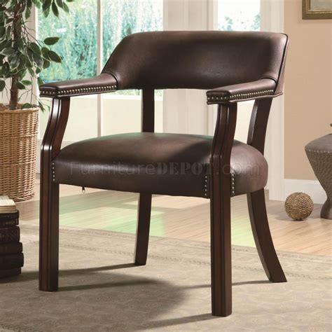 brown vinyl classic commercial office chair w nailhead trim