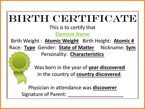 element birth certificate penn working papers