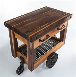Kitchen Island Drop Leaf Butcher 39 S Block Cart Eclectic Kitchen Islands And Kitchen Carts Nashville By Walnut Wood