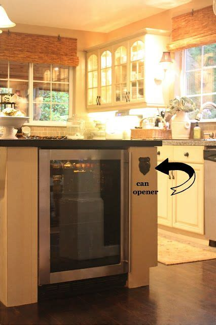 kitchen island with refrigerator kitchen wall bottle opener and mini fridge built into 5221