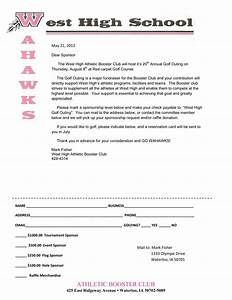 school donation request letter sample With booster club sponsorship letters