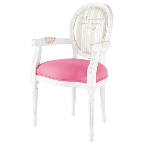 chaise louis maison du monde fauteuil cabriolet en bois blanc et coton louis