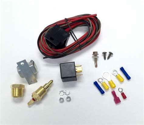 electric fan relay install rod electric fan wiring install kit 200 185