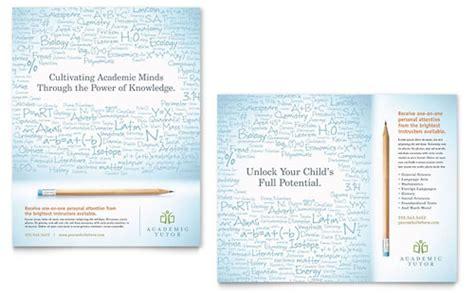 academic tutor school flyer ad template word publisher