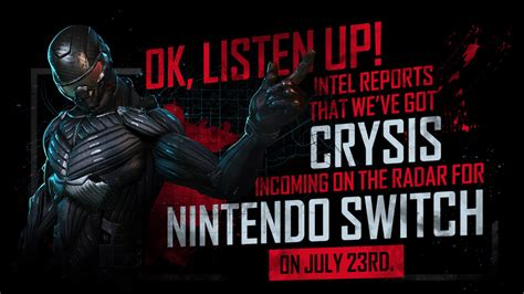 Crysis Remastered se lanzará en Julio para Nintendo Switch
