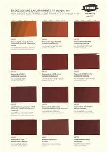 Color Chart Kremer Pigments Iron Oxides Colour Charts