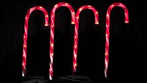 stake lights 4 large led candy cane pathway lighting With candy cane outdoor lights stakes uk