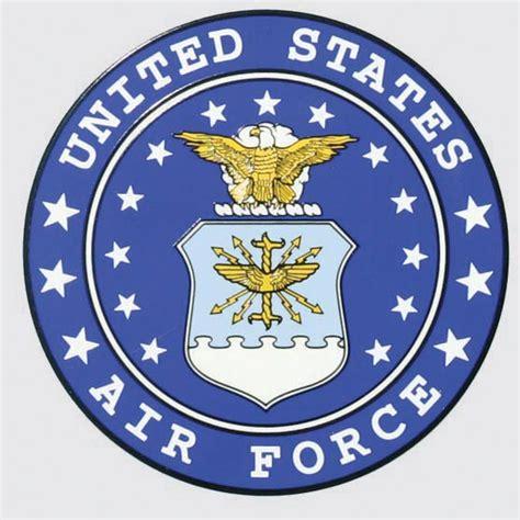 UNITED STATES AIR FORCE LOGO ROUND DECAL - Northern Safari ...