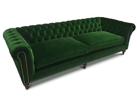 green velvet settee the fitzgerald classic chesterfield of iron oak