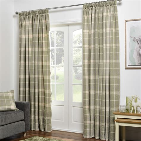 Patterned Curtains And Drapes - vintage check curtains