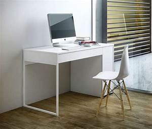 Bureau Blanc Avec Rangement : bureau avec rangement achatdesign ~ Teatrodelosmanantiales.com Idées de Décoration
