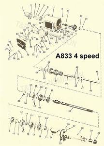 A833 4 Speed Transmission Parts Gears