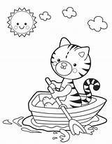 Coloring Boat Lake Printable Kitty Springtime Sheets Colouring Clip Printables Sheknows Cat Visit Spring Coloringhome sketch template