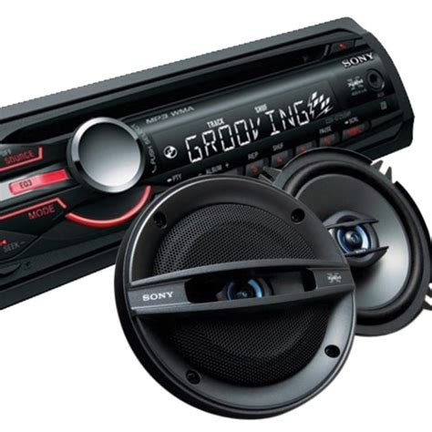 sony sony stereo  front aux sony cm speakers