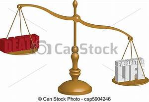Clip Art Vector of life death scale - A balancing scale ...