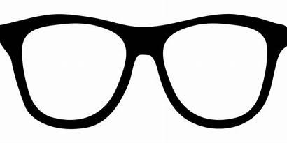 Glasses Eyeglasses Clipart Silhouette Pixabay Svg Geek
