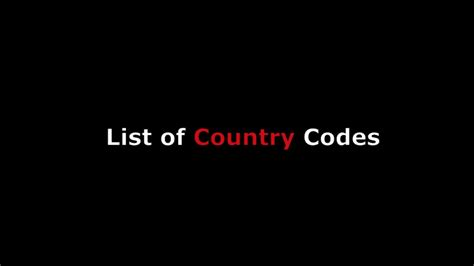 country codes list international phone calling numeric code