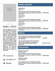 Free resume templates for word http webdesign14com for Free resume download word