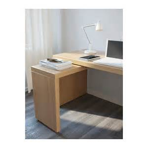 Ikea Malm Pull Out Desk White by Malm Desk With Pull Out Panel Oak Veneer 151x65 Cm Ikea