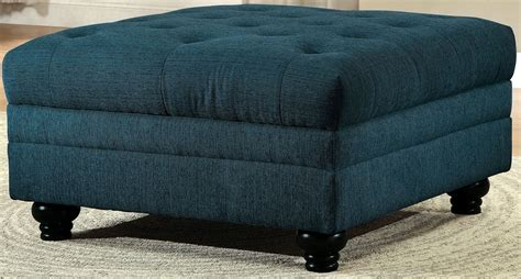 teal ottoman stanford ii dark teal fabric ottoman cm6270tl ot furniture of america