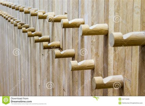 wall mounted coat hook rack wooden coat rack stock image image of wood background