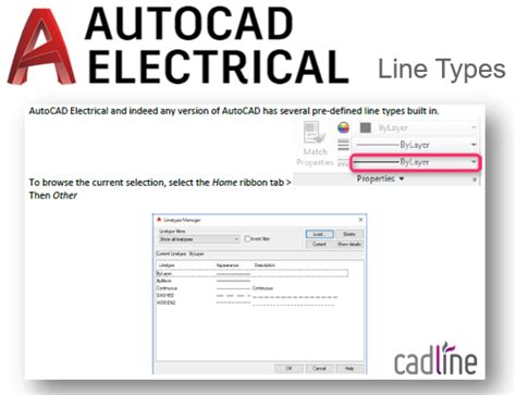 autocad electrical 2018 line types cadline community