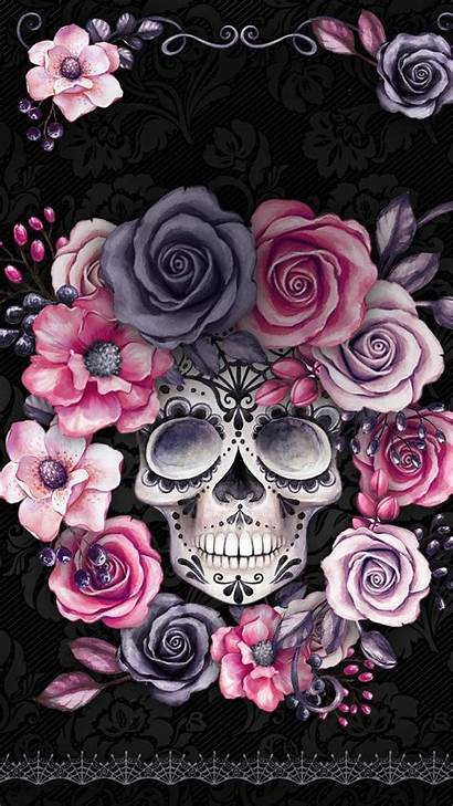 Skull Iphone Mermaid Backgrounds Wallpapers Sugar Phone
