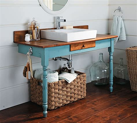 how to build a bathroom vanity from an dining table