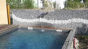 Mur En Gabion : lame d eau et mur de gabion youtube ~ Premium-room.com Idées de Décoration