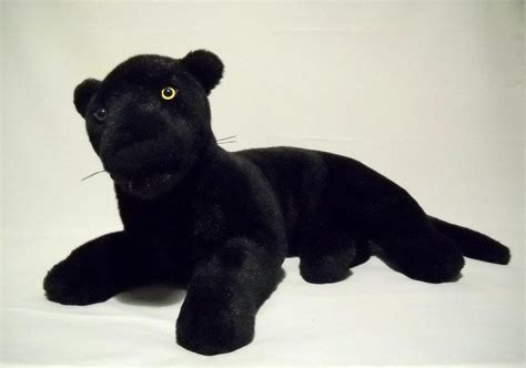 fiesta black panther cat plush vintage lying jaguar large